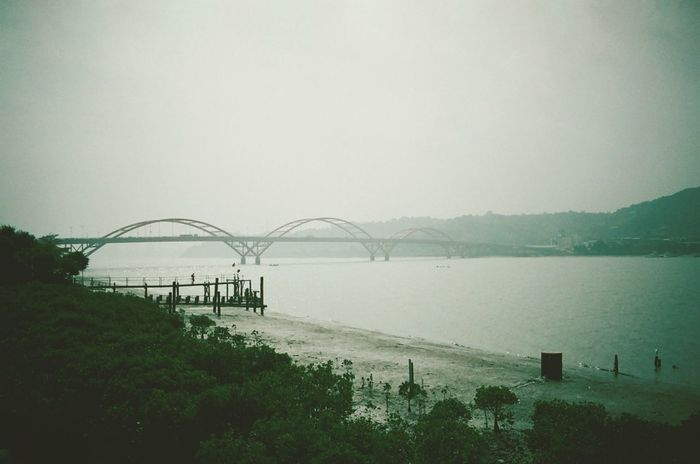 Walking Around Bridge Landscape Urban Geometry Filmcamera On A Health Kick Vanishing Point Misty Moisty Morning 35mm Film Misty