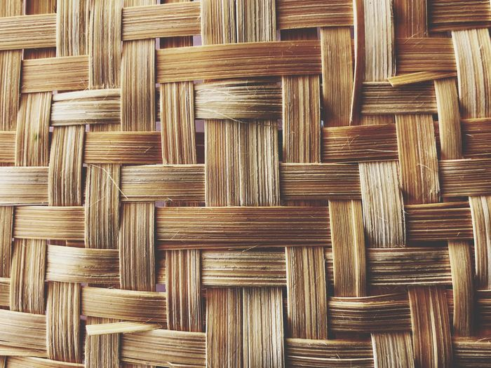 Bamboo weave backgrounds and texture Full Frame Backgrounds Pattern Wood - Material No People Textured  Brown Indoors  Wicker Close-up Design Wood Art And Craft Directly Above Detail Repetition Creativity Crisscross Shape Day