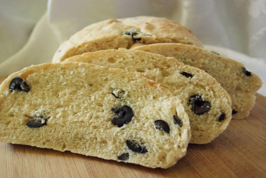 Baking Bread Food Loaf Loaf Of Bread Olive Olive Bread Olives Sliced Bread Slices Table Temptation