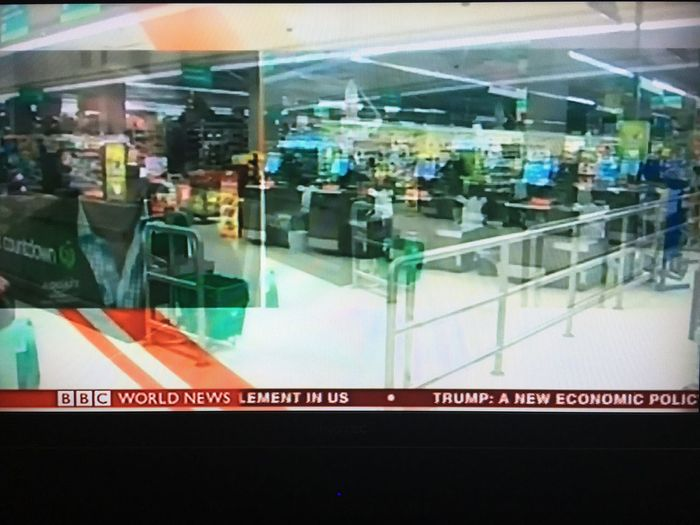 Earthquake Aftermath Indoors  New Zealand people Store world trouble