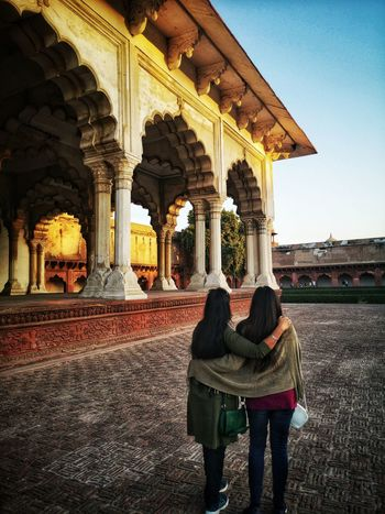 Camaraderie Gpmzn EyeEm Best Shots Shot With A Leica Leica Photography. The Golden Hour Beautiful Sunset Full Length History Arch Women Architecture Built Structure Building Exterior Architectural Column Visiting Historic Archway Old Ruin Archaeology Ancient Civilization