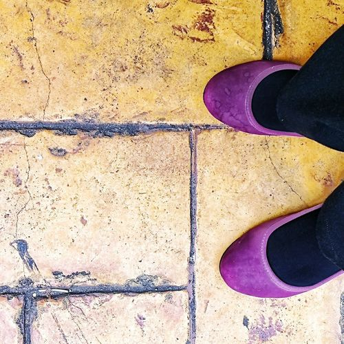 Close-up Pattern Architecture Outdoors Day One Person Human Body Part Johor Bahru Adults Only Purple Shoes Standing Woman