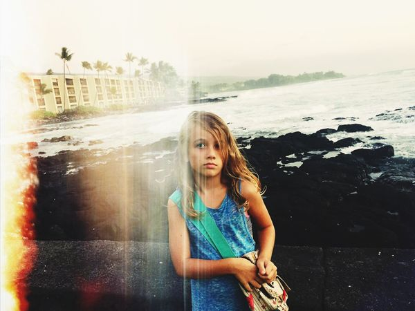 Feel The Journey Coastline Kids Being Kids Hello World Kona Hawaii Seriousface Island Life Futuregeneration