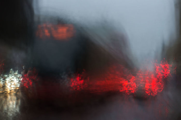 Abstract Backgrounds Bus Car City Life City Street Colorful Light And Shadow Rain Rain Drops Rainy Days Street Photography EyeEmNewHere The City Light