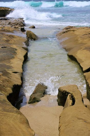 Beach Photography Been There. Daytime La Jolla Beach La Jolla, California Nature San Diego Sunny Beach Beauty In Nature Been There, Done That La Jolla Nature No People Ocean Outdoors Sand Scenics Sea Shore Sky Tranquility Water Wave Waves And Rocks