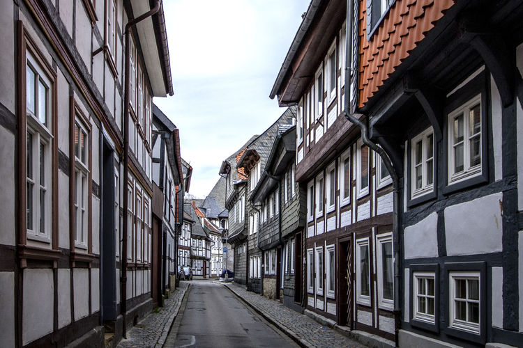 Goslar, Germany Architecture Building Exterior Built Structure City Life Cloud - Sky Day Diminishing Perspective Germany Goslar Goslar Germany No People Old Town Residential Building Residential District Sky The Way Forward Tourism Town Vanishing Point Window Battle Of The Cities