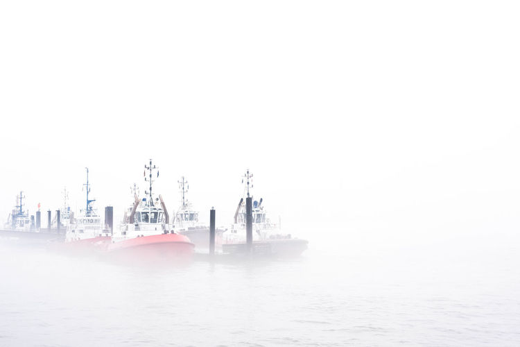 harbour moods / Hamburg Harbour takes a fog bath Clear Sky Copy Space Hamburg Hamburg Harbour Moody Sky Nikon Open Edit Weather Ahoi Elbe Eye4photography  Fog Foggy Foggy Day Freight Transportation Nautical Nautical Theme Nautical Vessel Navigation Offshore Platform Outdoors Springtime Tugboat Water Waterfront Stories From The City