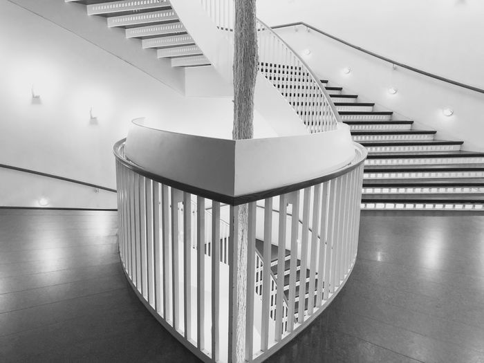 Design excellence Indoors  Staircase Railing Steps And Staircases Architecture Built Structure Empty Absence No People Illuminated Pattern Lighting Equipment Wall - Building Feature Close-up Day Focus On Foreground Chicago Architecture Architectural Column Urban Design Blackandwhite Black And White Black & White