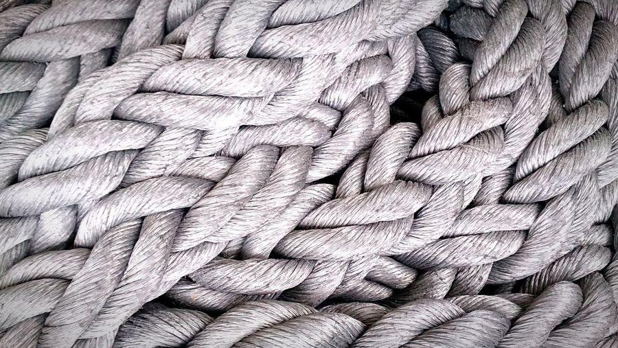 Full Frame Shot Of Braided Rope