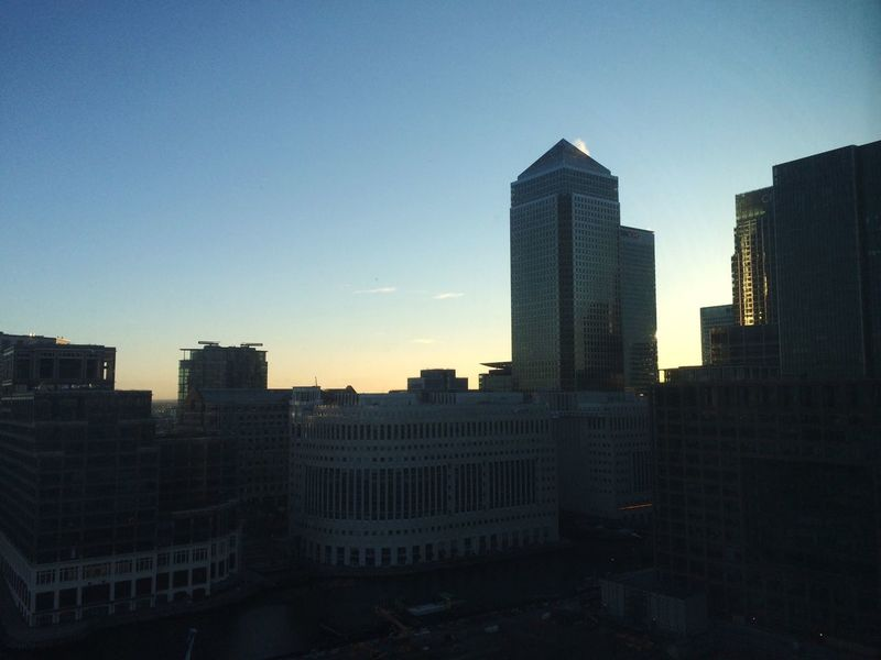 Sunrise Early Riser Canary Wharf One Canada Square 6am My View