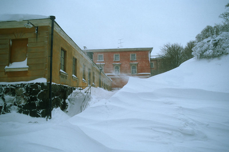 Architecture Building Exterior Built Structure Cold Temperature Helsinki, Finland House No People Outdoors Snow Snowdrift The Fortress Of Suomenlinna, UNESCO World Heritaga Site Winter