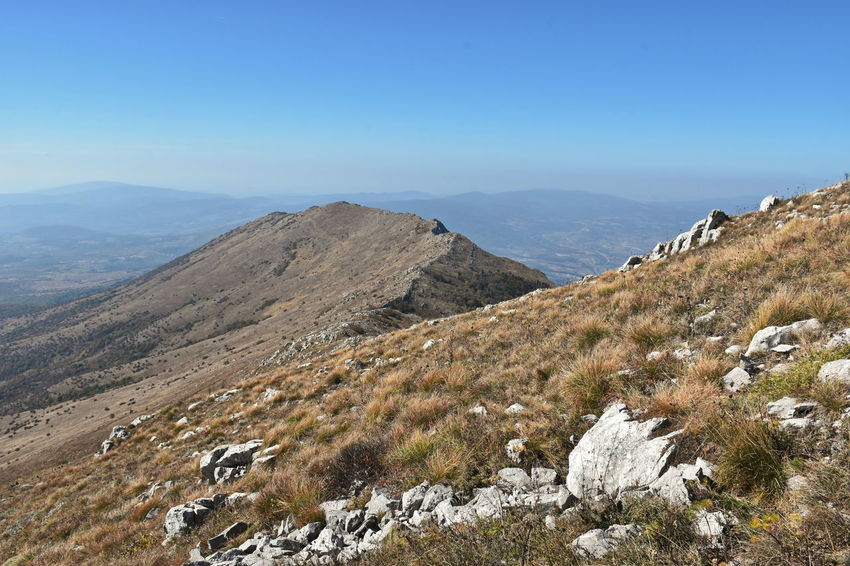 Rtanj mountain, Serbia Beauty In Nature Blue Clear Sky Day Environment Idyllic Land Landscape Mountain Mountain Range Nature No People Non-urban Scene Outdoors Plant Remote Scenics - Nature Sky Tranquil Scene Tranquility
