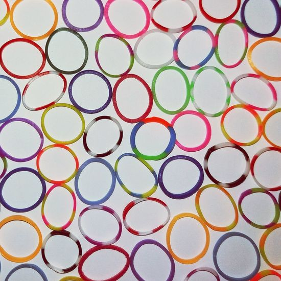 Repetition Multi Colored Circle Detail Textured  Vibrant Color Large Group Of Objects No People