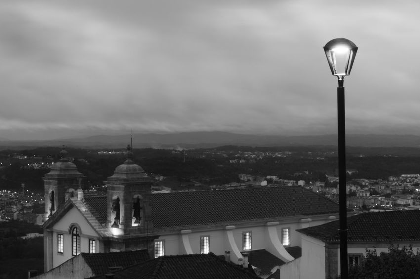 City Architecture Politics And Government Cloud - Sky Sky No People Dome Outdoors Storm Cloud Cityscape Day Cityview View Landscape Light Pole églises Igreja Church Ourém Black And White Photography Preto E Branco Noir Et Blanc Bnw Photography