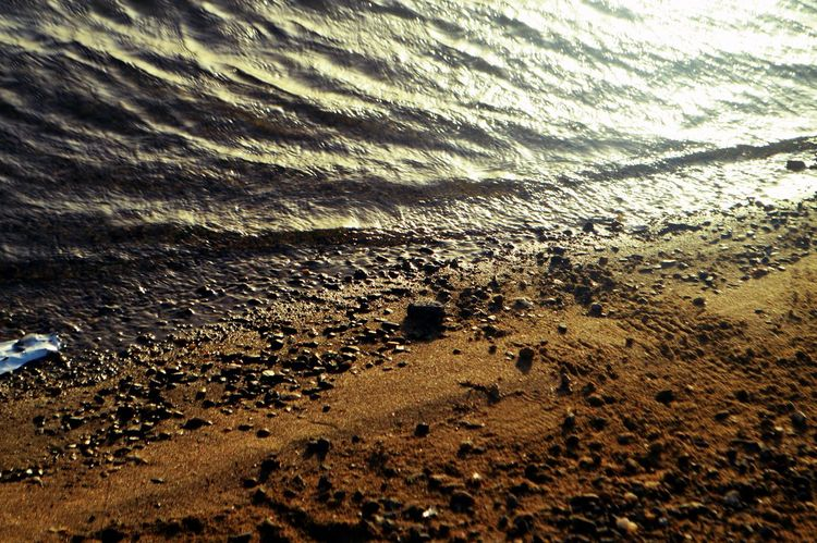 Beach Beauty In Nature Day Dirt High Angle View Land Mud Nature No People Outdoors Pattern Sand Scenics - Nature Sea Sky Sunlight Tranquil Scene Tranquility Water Wet