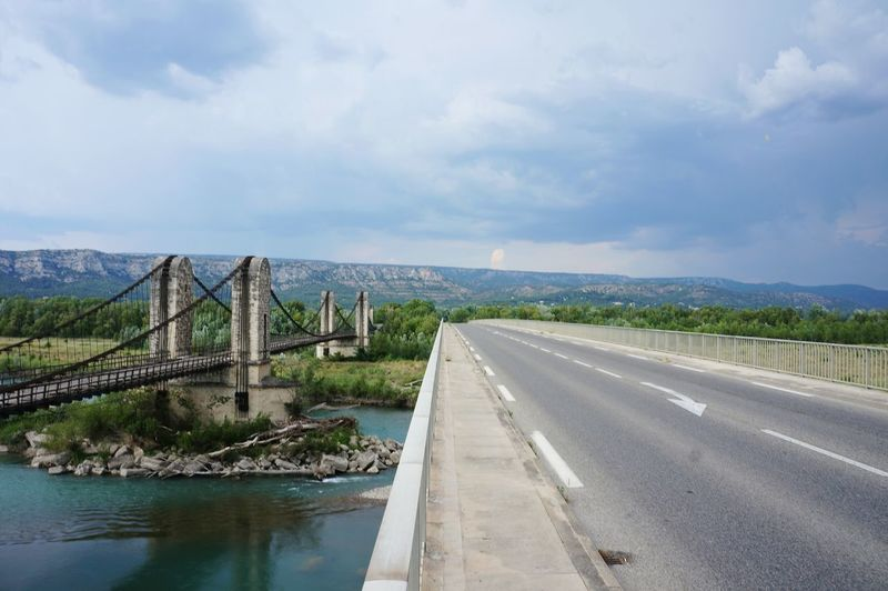 Bridge - Man Made Structure Landscape No People Vacations Water Outdoors Day Two Bridges France Old And New