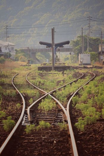 Railroad Tracks On Landscape