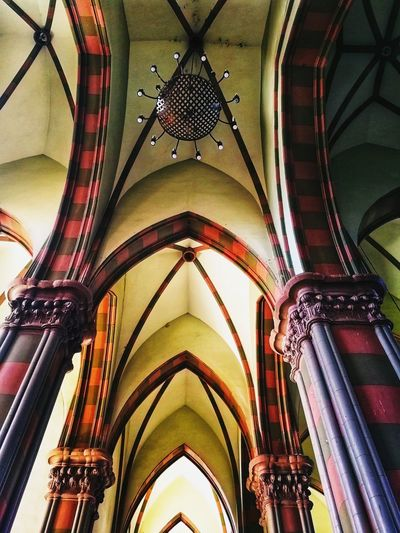 Low Angle View Ceiling Architecture Architectural Design Built Structure Place Of Worship Indoors  Arch