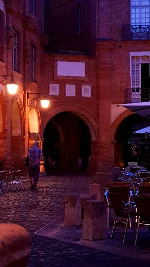 Royal Place Montauban,tarnetgaronne,France Illuminated Building Exterior Architecture Arch Night Built Structure City Entrance City Life Outdoors Old Town Arched In Front Of Façade Electric Light Footpath Battle Of The Cities Capture The Moment Getting Inspired Smartphone Photography