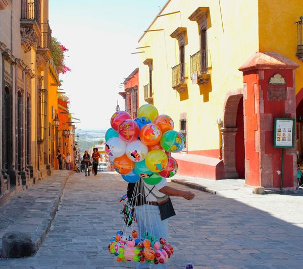 Balloons San Miguel De Allende Guanajuato, México Travel Photography Colorful Street Celebration Multi Colored Sky City Life Outdoors TakeoverContrast Rickeherbertphotography