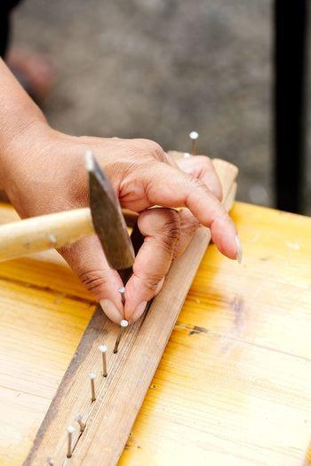Human Hand Wood