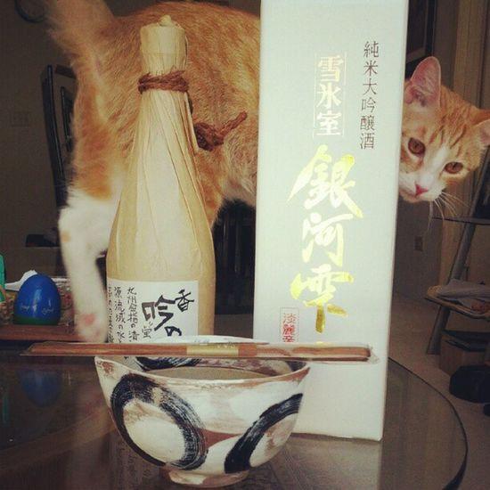 @klaudia093 お久美さんが帰ってきた!納豆碗とお箸セットに麦の焼酎、銀河雫純米大吟醸ゲットShochu Sake Natto Finallymomcamehome