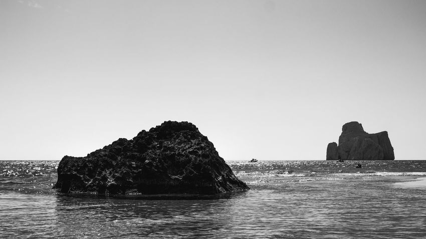 Paradise. Sea Rock - Object Beach Nature No People Water Outdoors Beauty In Nature Day Sky Live For The Story BYOPaper! Canonofficial Canon_photos Postproduction Canonphotography Canon_official Eyeemphotography EyeEm Best Shots EyeEm Blackandwhite Photography B/W Photography Nature Tranquility Blackandwhite