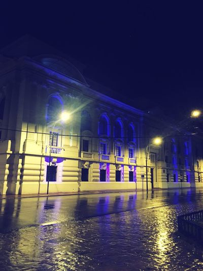 Biblioteca Severin Night Building Exterior Illuminated Architectural Column First Eyeem Photo