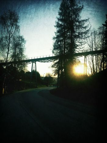 The Hoem Bridge at six this morning! Loveit Sun Rays