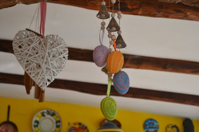 Ceiling Close-up Colors Cuore❤ Decor Decoration Decorations Focus On Foreground Group Of Objects Hanging Home Interior Home Sweet Home Indoors  Inside Lifestyle Photography Medium Group Of Objects Multi Colored No People Thread Variation