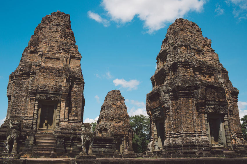 Siem Reap Cambodia Angkor Architecture Religion Ancient History Built Structure Place Of Worship Belief The Past Spirituality Travel Destinations Old Ruin Low Angle View Travel Sky Building Old Nature Tourism No People Ancient Civilization Outdoors Archaeology Ruined