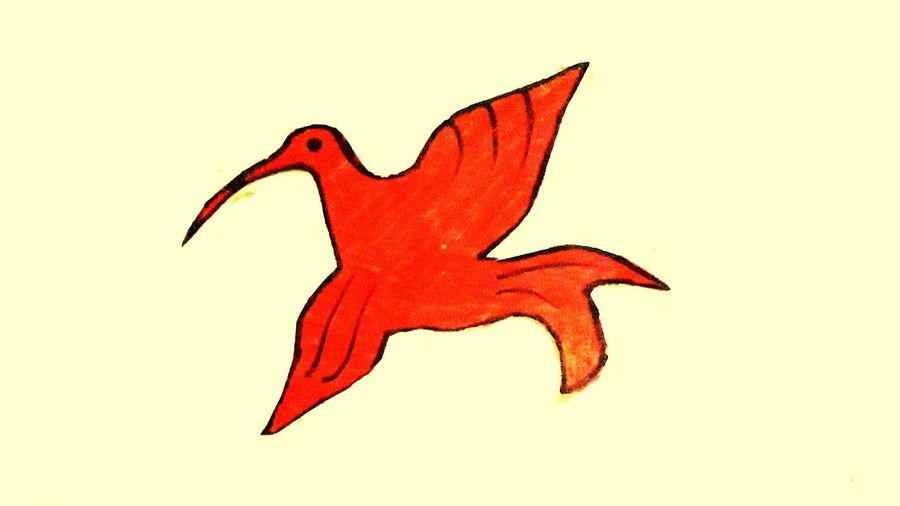 Paper bird Bird Red Full Length Orange Color Orange Vibrant Color Red Color Flying Creativity No People Original Photography