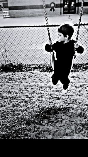I Love My Grandson Having Fun Swinging Black And White Collection  Eyeem Black And White