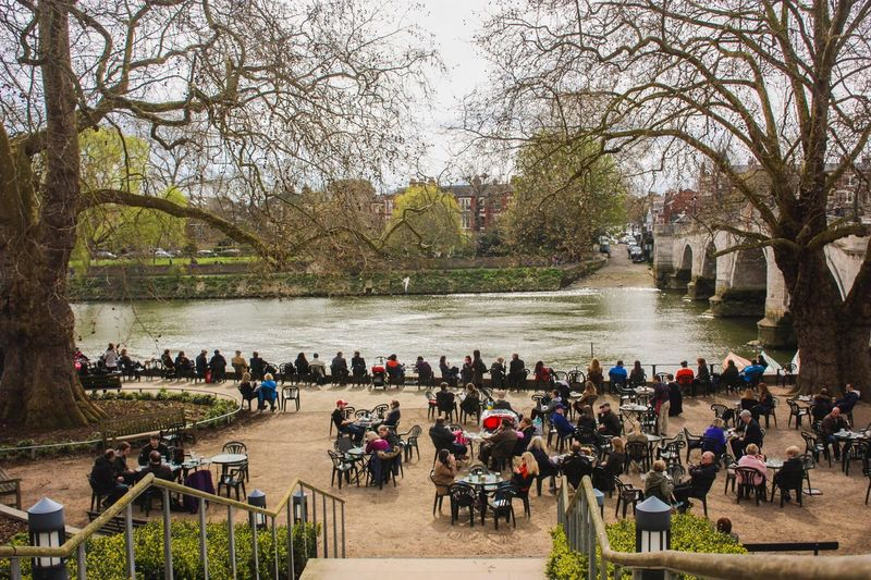London Richmond Upon Thames Architecture Bridge Bridge - Man Made Structure Building Exterior Built Structure Crowd Day Group Of People Large Group Of People Leisure Activity Lifestyles Men Nature Outdoors Park Plant Real People River Tree Water Women