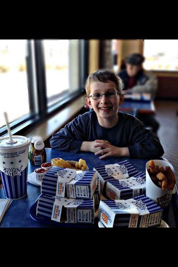 Lunch at White Castle Hanging Out Enjoying Life Family Matters