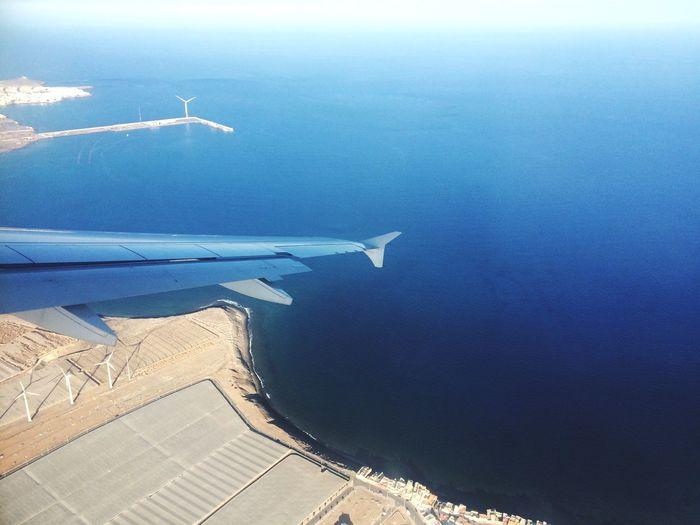 Aerial view of sea against sky