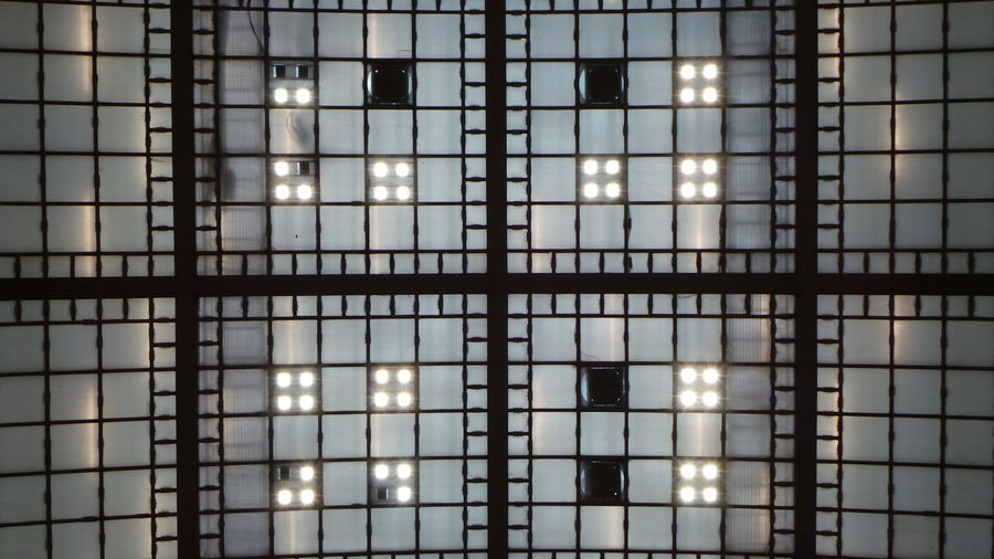 Railway Station Hauptbahnhof Leipzig Architecture Backgrounds Building Built Structure Ceiling Full Frame Glass - Material Glowing Grid Illuminated Indoors  Light Lighting Equipment No People Pattern Window
