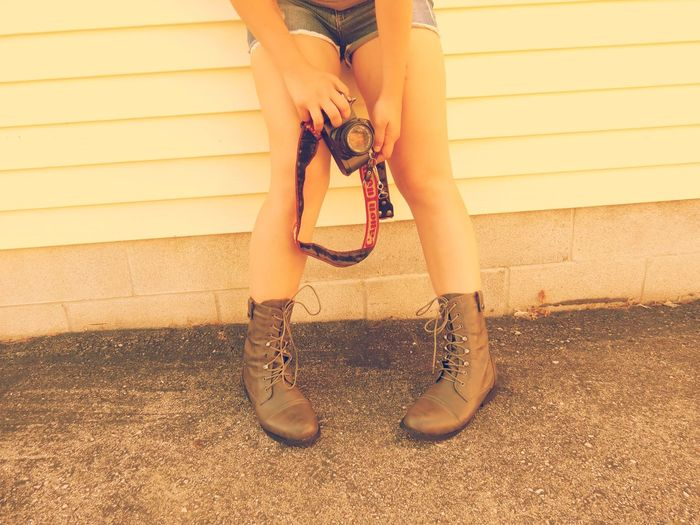 43 Golden Moments Boots Camera Embers0ashes Photography Fahsion Legs Self Portrait Style That's Me
