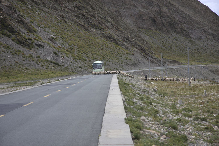 Road leading towards mountain