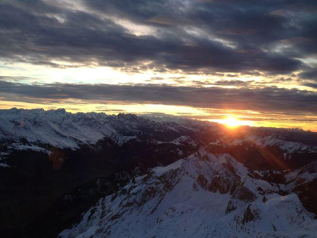 Sunset Mountains Evening Sun Evening Sky