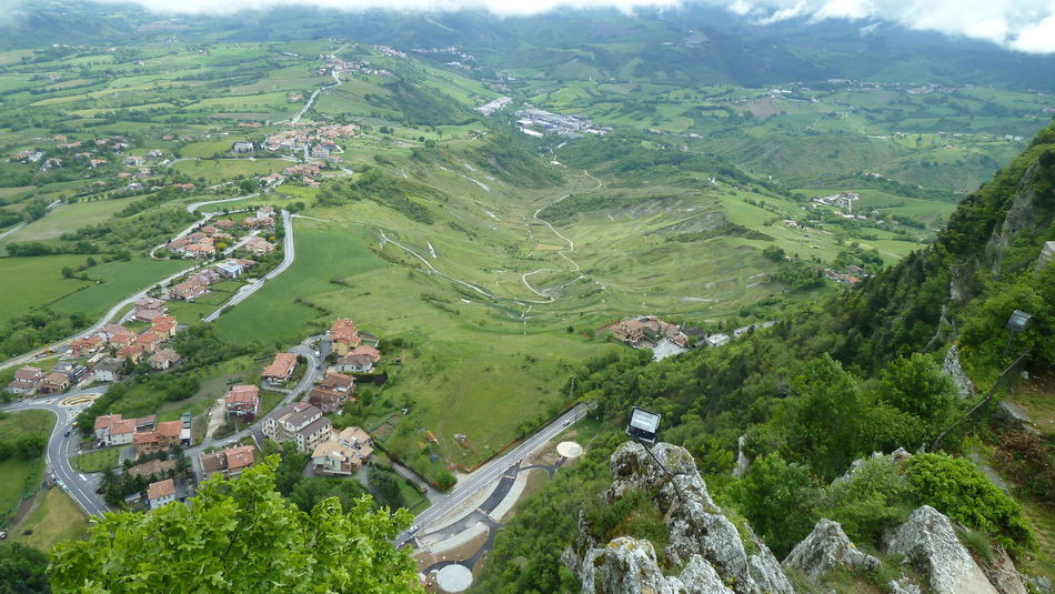 San Marino San Marino Country.... San Marino View Aerial View Agriculture Architecture Beauty In Nature Building Exterior Day Green Color High Angle View Landscape Mountain Nature No People Outdoors Patchwork Landscape Scenics Sky Tranquil Scene Tranquility Tree
