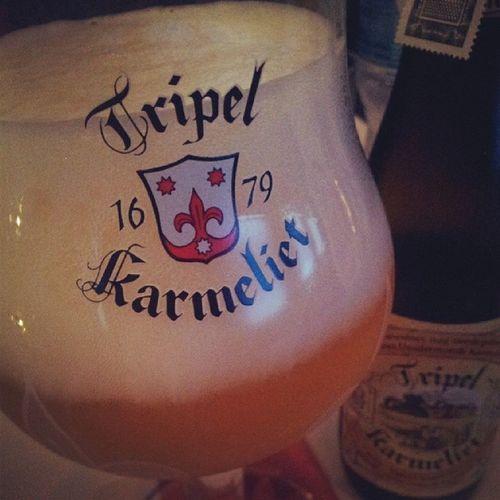 Reward for myself after tough work with nice beer, nice place & nice people Beer TripelKarmeliet