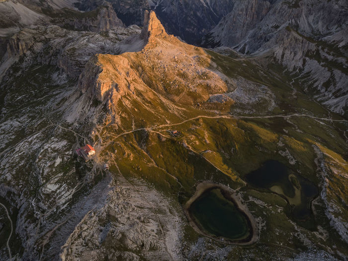 Rifugio Locatelli and Laghi dei Piani, aerial view. Aerial Shot Dolomites Dolomites, Italy Drone  EyeEmNewHere Hiking Morning Mountain View Rifugio Locatelli Aerial Aerial Landscape Aerial Photography Aerial View Drone Photography Dronephotography Droneshot High Angle View Laghi Dei Piani Landscape Mountain Mountains Nature Rock Sunrise Water