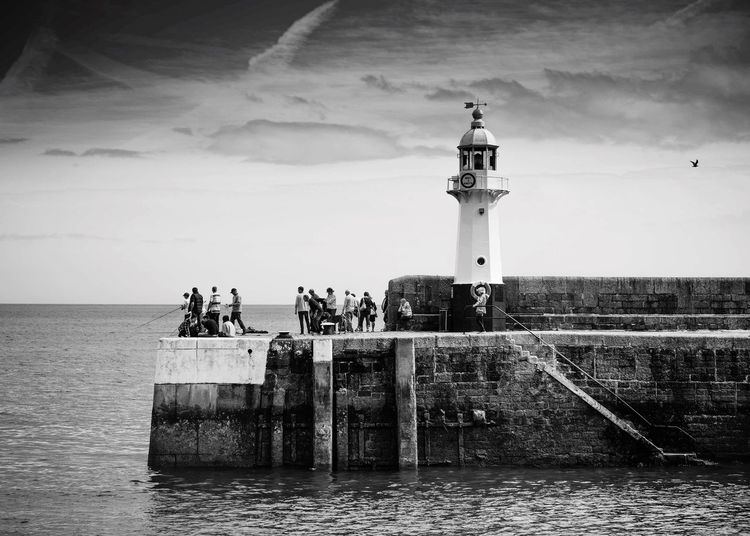 Fishing Water Sea Sky Horizon Over Water Waterfront Day Nature Lighthouse Beauty In Nature Outdoors Architecture Travel Destinations Nautical Vessel Cloud - Sky People Vacations Scenics EyeEmNewHere