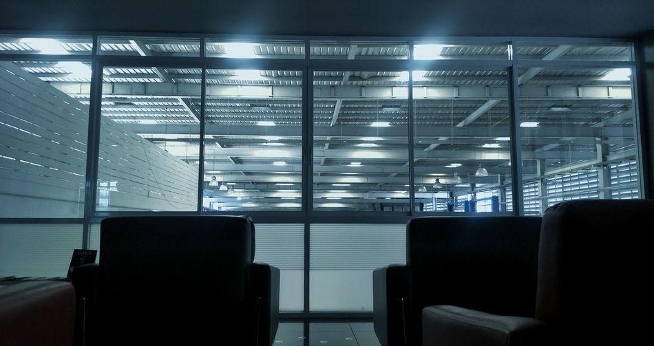 Interior of empty airport