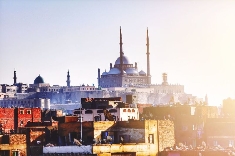Cairo Citadel Old Sun Old Town Cairo Citadel Cairo Architecture Building Exterior Built Structure Clear Sky Outdoors Travel Destinations Dome Sky No People Day City