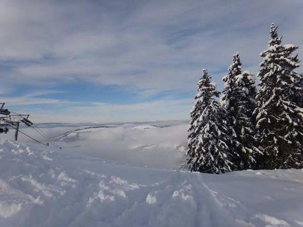 Bernex Winter Wonderland France Clouds And Sky