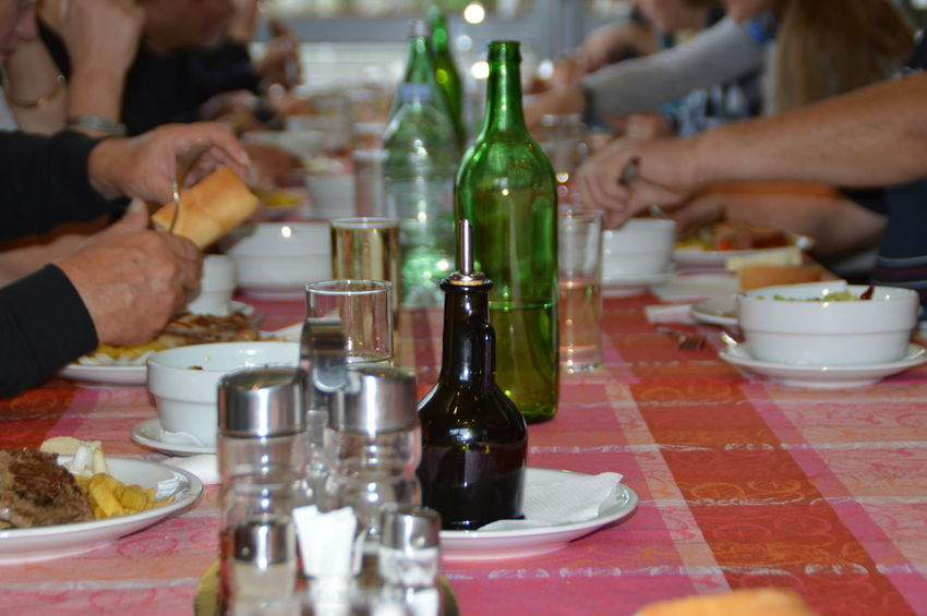 Alcohol Bottle Close-up Drink Drinking Glass Food Food And Drink Friendship Human Body Part Human Hand Indoors  Leisure Activity Lifestyles Real People Table Wine Wine Bottle