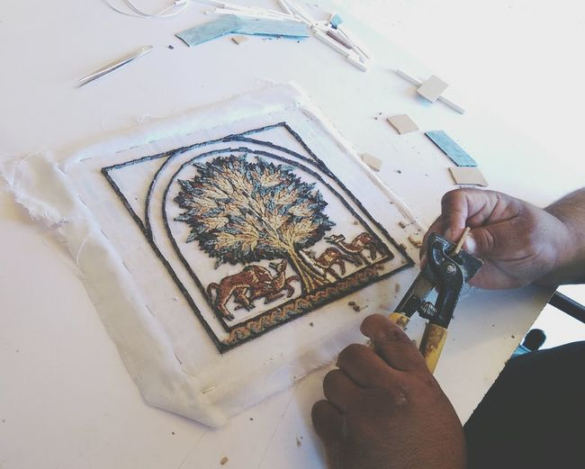 Mosaic Tiles Unfinished_art Mosaicartist Tree Of Life Working Hard Work In Progress Jordan Madaba Taking Photos Eye4photography  EyeEm Gallery Small Business Heroes