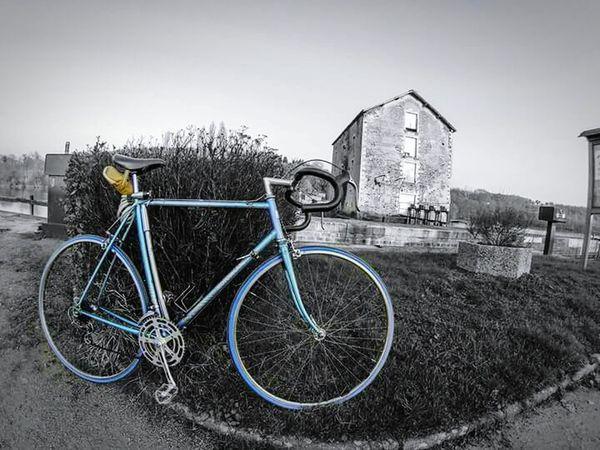 Mayenne Halage Gopro Hero3 Goprooftheday Blackandwhite Black&white Vintage Cycle Motobecane